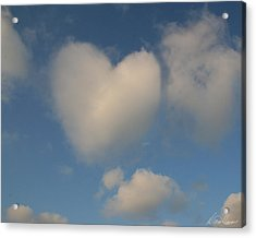 Heart In The Clouds Acrylic Print