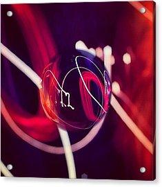 #heart #lights #strobe #trail #art Acrylic Print