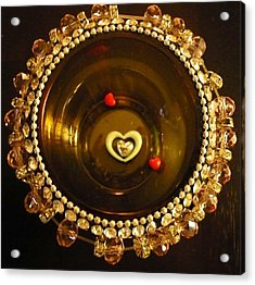 Heart Mandala Acrylic Print by Debra Jacobson