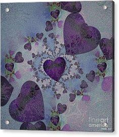 Heart Mix Blue Acrylic Print