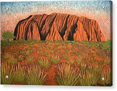 Heart Of Australia Acrylic Print by Lisa Frances Judd