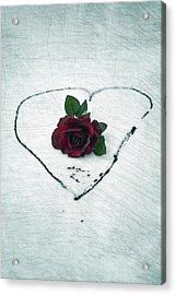 Heart Of Blood Acrylic Print by Joana Kruse