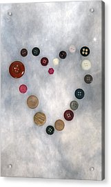 Heart Of Buttons Acrylic Print by Joana Kruse