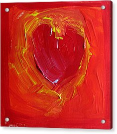 Heart Of Cupids Joy At The Moment Of Transformation Dripping Oozing Love When Pierced With Open Fear Acrylic Print by ImQueer AndLoveIt