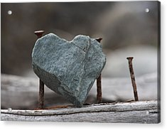 Heart Of Stone Acrylic Print by Cathie Douglas
