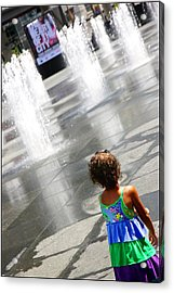 Heart Of The City Acrylic Print by Valentino Visentini