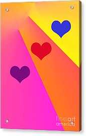 Heartbeams Acrylic Print by Susan Stevenson