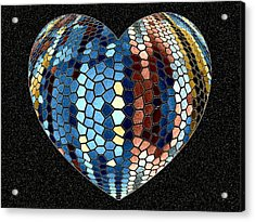 Heartline 4 Acrylic Print by Will Borden
