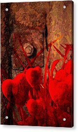 Hearts And Metal Acrylic Print by Martin  Fry