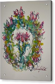 Hearts Fever Acrylic Print by Edward Wolverton