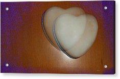Hearts-marble Acrylic Print by Ines Garay-Colomba