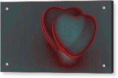 Hearts-r Acrylic Print by Ines Garay-Colomba