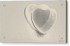 Hearts-smooth Acrylic Print by Ines Garay-Colomba