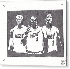 Heat Acrylic Print by Nick Theodor