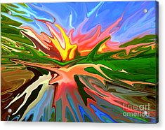 Heat Wave Acrylic Print by Chris Butler