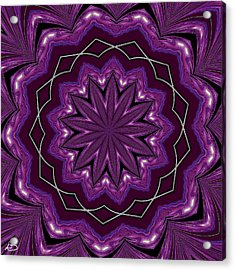 Acrylic Print featuring the digital art Heather And Lace by Alec Drake
