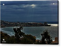 Heavely Spotlights Acrylic Print by Russ Harris
