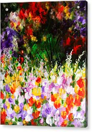Heavenly Garden Acrylic Print by Kume Bryant