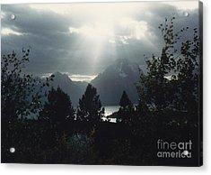 Heavenly Rays Acrylic Print by Barbara Plattenburg