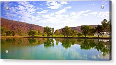 Heavitree Gap Reflected Acrylic Print