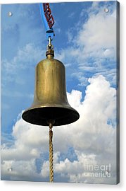 Heavy Bronze Bell Acrylic Print by Yali Shi