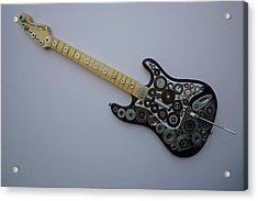 Heavy Metal Guitar Acrylic Print by Douglas Fromm