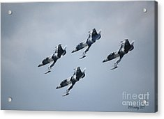 Heavy Metal Jet Team Acrylic Print by Susan Stevens Crosby