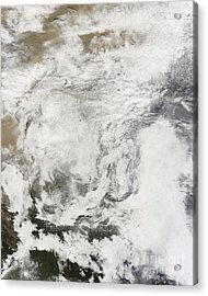 Heavy Snowfall In China Acrylic Print by Stocktrek Images