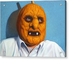 Heavy Vegetable-head Acrylic Print by James W Johnson