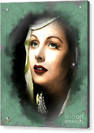 Hedy Lamarr Acrylic Print by Arne Hansen