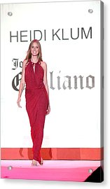 Heidi Klum In Attendance For The Heart Acrylic Print by Everett