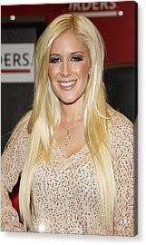 Heidi Montag At In-store Appearance Acrylic Print by Everett