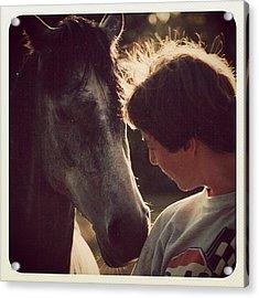 Heike & Her Horse Acrylic Print