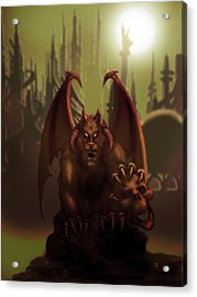 Hell Wolf Acrylic Print by William McDonald