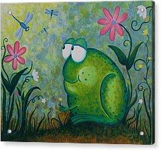 Hello Dragonfly Acrylic Print by Jennifer Alvarez