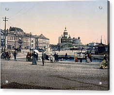 Helsinki Finland - Senate Square Acrylic Print by Bode Stevenson