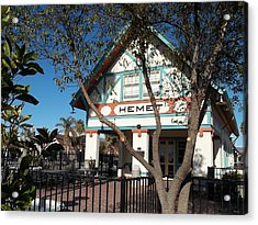 Hemet Museum-old Santa Fe Depot Acrylic Print