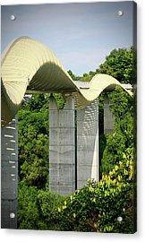 Henderson Waves Bridge Acrylic Print by Weesen Photos