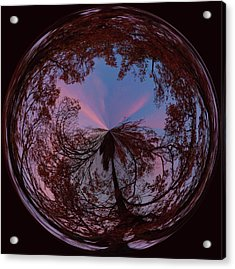 Hendersonville Sunset Orb Acrylic Print