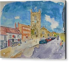 Acrylic Print featuring the painting Henley On Thames by Geeta Biswas