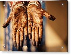 Henna Tattoo Hands Acrylic Print