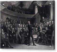 Henry Clay 1777-1852 Addressing Acrylic Print by Everett