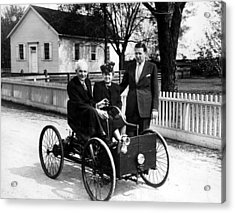 Henry Ford In His First Automobile Acrylic Print by Everett