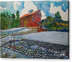 Henry Fowler Farm Acrylic Print by Donald McGibbon