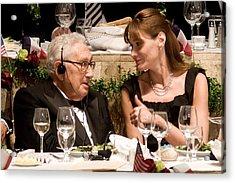 Henry Kissinger, Carla Bruni-sarkozy Acrylic Print by Everett