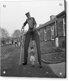 Henry The Stilt Man Acrylic Print by John Drysdale