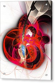 Her Heart Is A Guitar Acrylic Print