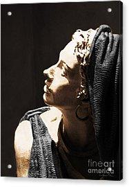 Her Profile Acrylic Print by Danuta Bennett
