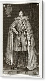 Herbert Of Cherbury, English Philosopher Acrylic Print by Middle Temple Library