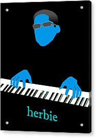 Herbie Blue Acrylic Print by Victor Bailey